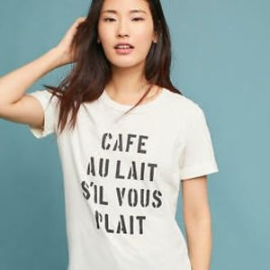 Anthropologie Sol Angeles Cafe Au Lait Graphic Tee